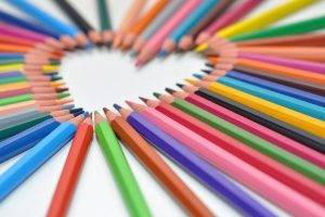 Heart Shaped Colored Pencils